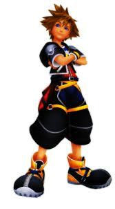Sora from Kingdom Hearts!! (This pic is from KH2!) He's SOOOOO cute!!! X3