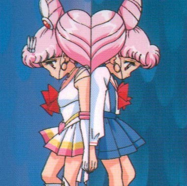 Chibiusa from Sailor Moon and Lithuania from Hetalia.