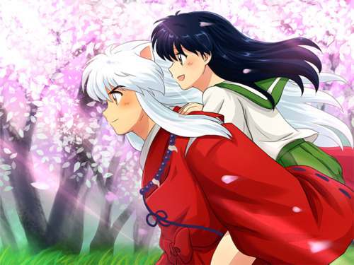 my first anime was inuyasha. this anime very moved me. only because i was just like the main character inuyasha. this taught me soo much and changed me too. this anime has the most special place in my heart. (the pic isnt the whole gang. its only inuyasha and kagome)
