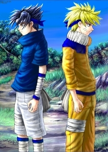NARUTO -ナルト- and Sasuke. (I already know some people 投稿されました them. XD )