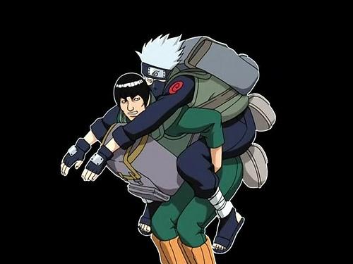 はたけカカシ Hatake and Guy-sensei XD