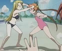 Asuna and Ayaka from Negima!