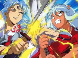 well since their brothers and they fight a lot im going with 犬夜叉 and sesshomaru