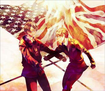 America and England from Hetalia!