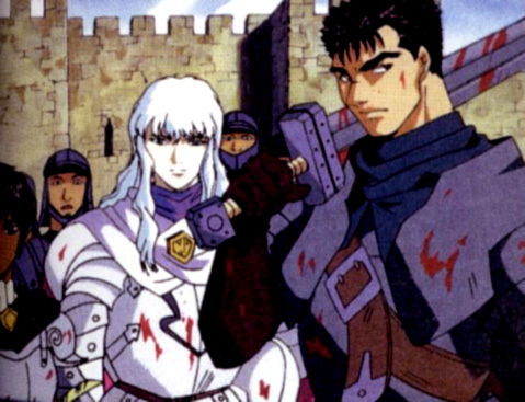 Guts and Griffith from Berserk.