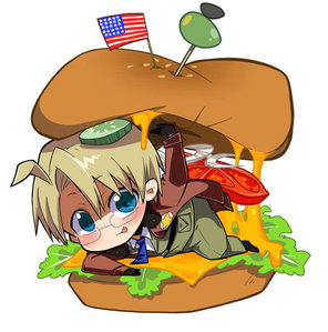 America and his hamburger!!