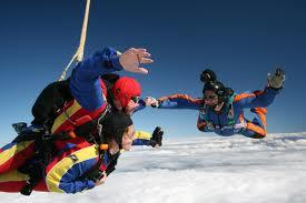 jumping from a plane with parachute but i won't do that cuz im scared
