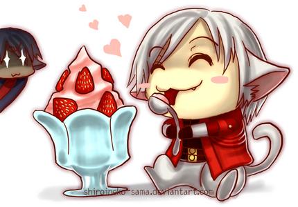 dante with starwberry sundae <3
