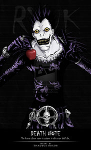 Ryuk from Death Note & his favorite, an apple!