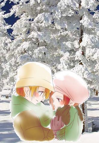 Takeru and Hikari from Digimon (TK and Kari) It's a fanart but... I <3 it~! लोल