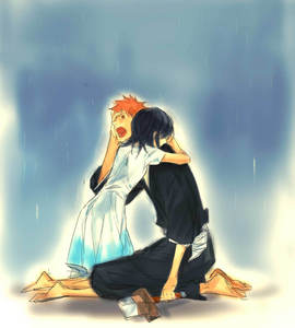 What Rukia should've done, instead of going along with Byakuya and Renji! ^_^