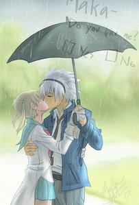 Soul X Maka in the rain
