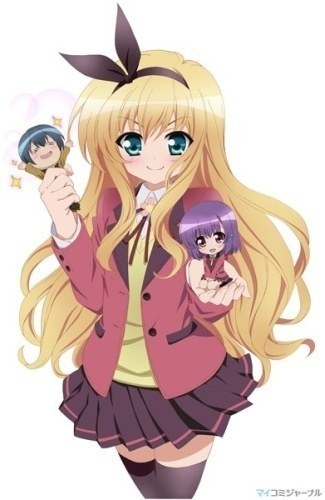 try this:fortune arterial(romance/vampire) special A(comedy/romance) shokugan no shana(action) kaze no stigma(action/romance) NANA(romance) k-on(school) naruto(action/comedy) bleach(action/comedy) soul eater(action/comedy) fairy tail(action/comedy) vampire knight (vampire/romance) ookami-san(action/comedy/romance) code geass(romance/action) arad senki(fantasy/comedy) the melancholy of haruhi suzumiya(comedy/romance) ouran high school host(school/comedy/romance) full metal panic!(comedy/action) kaicho wa maid sama(comedy/romance) dog days(fantasy/action) itsuka tenma no kuro usagi(horror/romance) hellsing(horror/vampire) kiddy grade(action/fantasy) lucky star(school/comedy) school rumble(comedy) black cat(action) black rock shooter OVA(action) bakugan(strategy/action) inuYasha(action/romance) kuroshitsuji(action/comedy) toradora(comedy romance) death note(thriller) fruits basket(romance) and my प्रिय is MM!(comedy/romance) (the pic is from MM!)