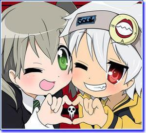 They havent kissed in the ऐनीमे या manga, but they would be a nice couple!! Soul x Maka from Soul Eater