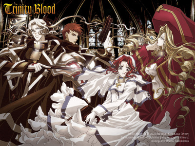 I really like the costumes from Trinity Blood.