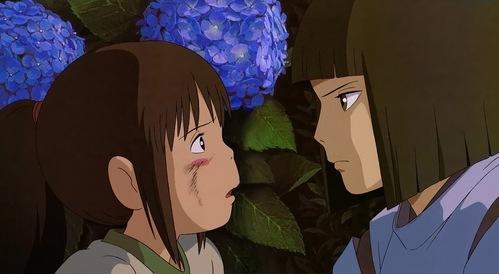 Chihiro and Haku.