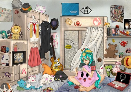 How's this? lol this is so my room xD