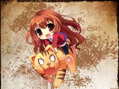 this is not my fave character but its so kawaii >u< Taiga (Toradora)