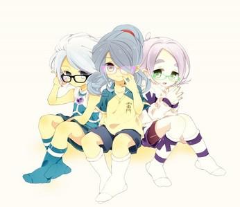 Fuusuke, Kazemaru and fubuki from inazuma eleven