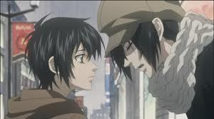 Miharu and Yoite from the ऐनीमे Nabari no ou?They never kissed.But some people don't consider them a couple...