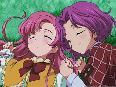 Cornelia li Britannia (on the right) from Code Geass