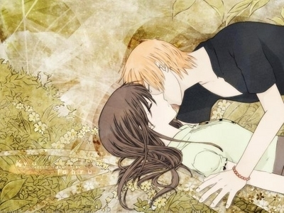 It's a tough choice, since I adore so many couples. It came down to two, though. I eventually decided upon one because it's such a sweet relationship and so heartbreaking and hilarious at the same time that I couldn't ignore it. Tohru and Kyo from Fruits Basket. Congratulations, toi two! toi managed to beat out Seddie for my OTP.