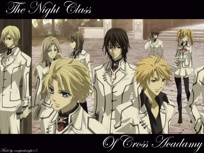 """Let's see what I have under """"N""""... No... no... I still don't watch that show! No... no... no... Oh here's some good ones! It's a tie between nighttime and the Night Class from Vampire Knight :) (I dunno why, I like the white uniforms better. It'd suck to get blood all over that, though [no pun intended].)"""