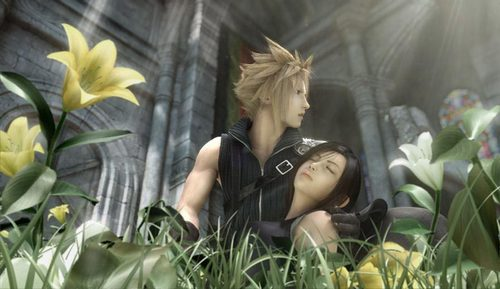 They're not Знаменитости but whatever. Caption THIS. (girl's name: Tifa, guy's name: Cloud)