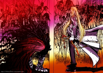 I'm usually not the one for bright या detailed but this one is acually good :) OH! Its Hellsing. Alucard and Integra