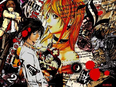 Main characters from Death Note.