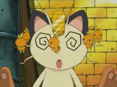 Well, I thought about this for a good ten minutes... and I would have to say Meowth of Team Rocket from Pokemon.... Well, I like him because he funny and he fails at being evil. Also, there are some times where he can be very evil because he is so loyal to Giovanni.