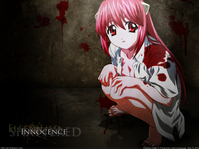 Elfen lied. It was REALLY gory (Is that a word?) I mean, they cut off some poor chaps head or limbs in every episode, not to mention that a cute little girl got chopped in half. And then this other guy had his arm horribly twisted... But even with all that, it was a really good anime. I don't recommend for young children though...
