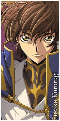 Suzaku Kururugi from Code geass.