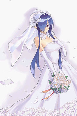 Fatima, the Shadow Frost Witch from Luminous Arc.