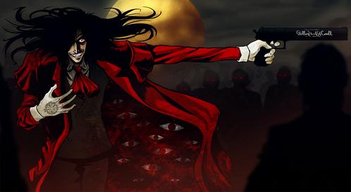 Alucard from Hellsing XD (red eyes)
