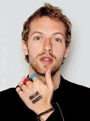 Chris Martin's cool fingers