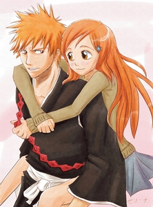 Orihime! I can just see them together and honestly I think it fits. Yeah, I also like Ichigo and Rukia but... I prefer Renji and Rukia.. X3