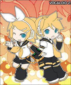 rin and len from vocaloid^^