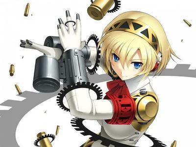 In persona 3 Aigus ..... actually she's the gun ^^ XD