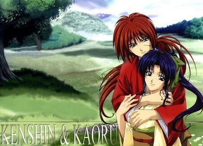Kenshin x Kaoru!! They only kissed in the ova and that doesn't count since Watsuki-sensei(The dude that made the manga) disapproved of it!