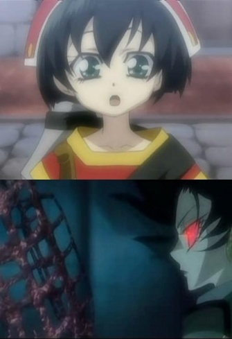 Seth Nightroad from Trinity Blood, It's a same person in both pictures xD