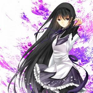 Lawl. My favorito color is black So here's a pic of Homura- Chan from Madoka Magica! <3