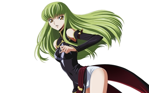 my favorito color is green. C.C. has green hair.