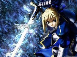 I really amor Saber, that's why I also amor BLUE.....!!!!!!