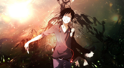 it would be turquoise, but I don't know any character with that coloured hair, so I choose black. Izaya Orihara from Durarara