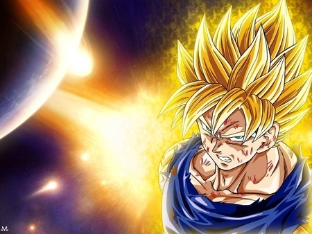 this is for dragon ball z (goku) i dont know what character u amor in dragon ball z so i post the main ssj character