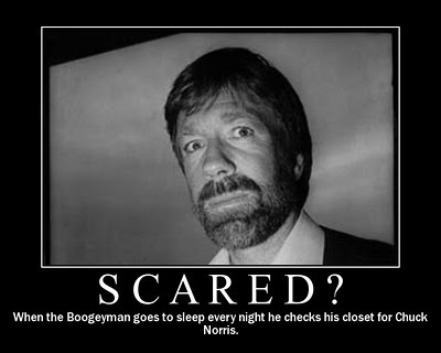 Everbody is scared of chuck norris :)