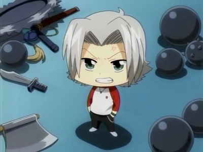 5 years old Gokudera from KHR! xD