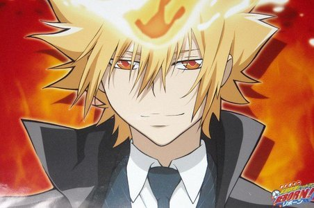 my favorito color is Yellow... Here's GIOTTO from KHR! he looks good-looking, right?