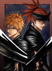 i was gonna say L(デスノート) and light http://images2.fanpop.com/images/photos/3800000/L-Light-death-note-3897600-600-428.jpg but i choose these 2 instead